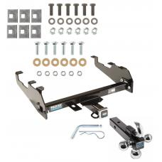 "Reese Trailer Tow Hitch Receiver For 67-02 Dodge 63-91 GM Chevy C/K 74-88 Ramcharger 63-97 Ford w/ Deep Drop Bumper w/Tri-Ball Triple Ball 1-7/8"" 2"" 2-5/16"""