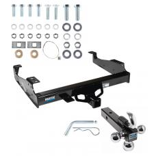 """Reese Trailer Tow Hitch Receiver For 99-17 F-450 F-550 99-00 F-350 Cab & Chassis w/34"""" Wide Frames w/Tri-Ball Triple Ball 1-7/8"""" 2"""" 2-5/16"""""""