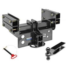 "Super Titan 4000 Trailer Hitch 3"" Receiver w/ Dual Ballmount 25,000 lbs. Bolt-On 2"" and 2-5/16"" Balls"