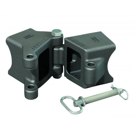 "Fulton 3"" x 3"" Weld-On Trailer Hinge Kit Fold-Away Coupler 5,000 lbs Tongue Frame"