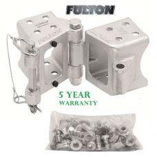 "Fulton 3"" x 5"" Bolt-On Trailer Hinge Kit Fold-Away Coupler 9,000 lbs Tongue Frame"