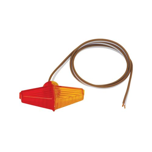 Trailer Fender Clearance Side Marker Light Amber And Red Lens