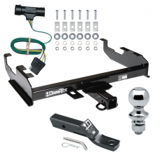 "Trailer Tow Hitch For  73-84 Chevy C/K 67-84 GMC C/K w/ 8' Bed Complete Package w/ Wiring and 1-7/8"" Ball"