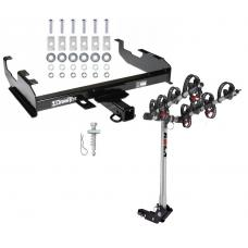Trailer Tow Hitch For 63-00 GMC Chevy C/K Pickup Ford F150 F250 F350 F450 w/ 4 Bike Carrier Rack