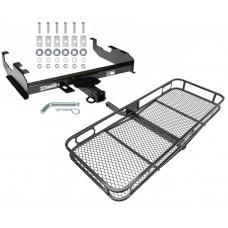 Trailer Tow Hitch For 63-00 GMC Chevy C/K Pickup Ford F150 F250 F350 F450 Basket Cargo Carrier Platform w/ Hitch Pin