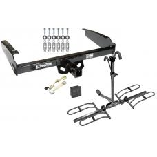 Trailer Tow Hitch For 80-97 Ford F-100 F-150 F-250 F-350 Platform Style 2 Bike Rack Hitch Lock and Cover