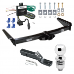 "Trailer Tow Hitch For 91-95 Toyota Land Cruiser Complete Package w/ Wiring and 2"" Ball"
