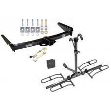 Trailer Tow Hitch For 91-97 Toyota Land Cruiser 96-97 Lexus LX450 Platform Style 2 Bike Rack Hitch Lock and Cover