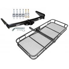 Trailer Tow Hitch For 91-97 Toyota Land Cruiser 96-97 Lexus LX450 Basket Cargo Carrier Platform w/ Hitch Pin