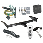 """Trailer Tow Hitch For 92-97 Ford Crown Victoria Mercury Grand Marquis Deluxe Package Wiring 2"""" Ball and Lock"""