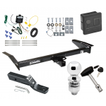 """Trailer Tow Hitch For 98-09 Ford Crown Victoria 81-11 Lincoln Town Car 98-11 Mercury Grand Marquis 03-04 Marauder Deluxe Package Wiring 2"""" Ball and Lock"""