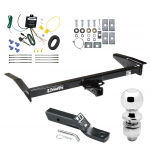 """Trailer Tow Hitch For 98-09 Ford Crown Victoria 81-11 Lincoln Town Car 98-11 Mercury Grand Marquis 03-04 Marauder Complete Package w/ Wiring and 2"""" Ball"""