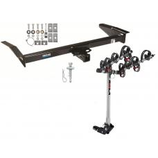 Trailer Tow Hitch For 79-11 Ford Crown Victoria Lincoln Town Car w/ 4 Bike Carrier Rack