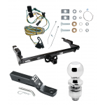 "Trailer Tow Hitch For 87-95 Chevy GMC G10 G20 G30 G1500 G2500 G3500 Complete Package w/ Wiring and 2"" Ball"