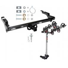 Trailer Tow Hitch For 78-95 Chevy G10 20 30 GMC G1500 2500 3500 w/ 4 Bike Carrier Rack