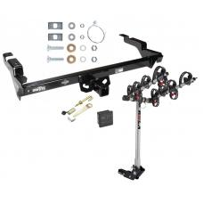 Trailer Tow Hitch For 78-95 Chevy G10 20 30 GMC G1500 2500 3500 4 Bike Rack w/ Hitch Lock and Cover