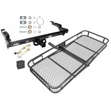 Trailer Tow Hitch For 78-95 Chevy G10 20 30 GMC G1500 2500 3500 Basket Cargo Carrier Platform Hitch Lock and Cover