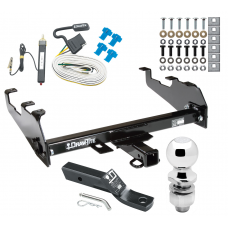 """Trailer Tow Hitch For 63-74 Chevy GMC C/K 68-85 Dodge D/W Ramcharger 63-79 Ford F-100 F-150 F-250 F-350 Complete Package w/ Wiring and 2"""" Ball"""