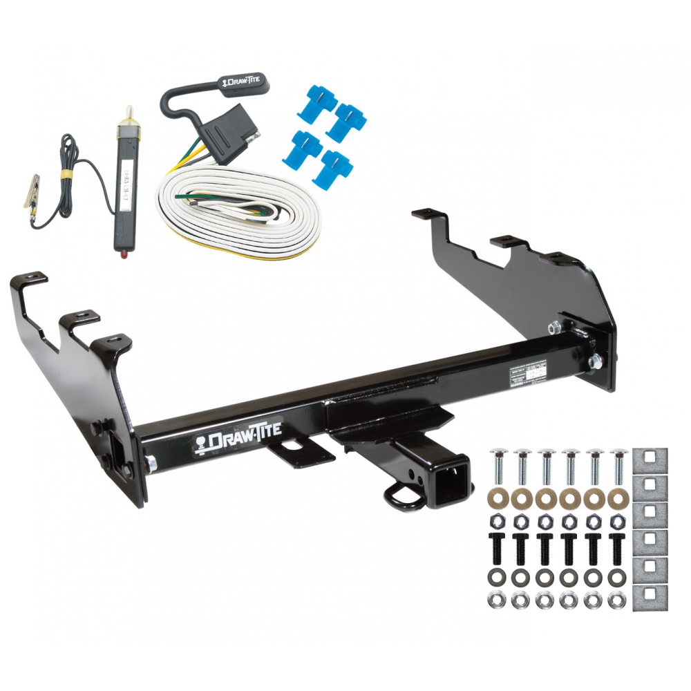 Trailer Tow Hitch For 63-74 Chevy GMC C/K 68-85 Dodge D/W Ramcharger 63-79  Ford F-100 F-150 F-250 F-350 w/ Wiring Harness KitTrailerJacks.com