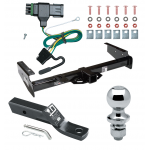 """Trailer Tow Hitch For 92-00 Chevy GMC Suburban C/K Blazer Tahoe Yukon Complete Package w/ Wiring and 1-7/8"""" Ball"""