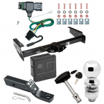 """Trailer Tow Hitch For 92-00 Chevy GMC Suburban C/K Blazer Tahoe Yukon Deluxe Package Wiring 2"""" Ball and Lock"""