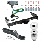 """Trailer Tow Hitch For 92-00 Chevy GMC Suburban C/K Blazer Tahoe Yukon Complete Package w/ Wiring and 2"""" Ball"""