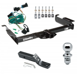 "Trailer Tow Hitch For 96-99 Chevy Express GMC Savana 1500 2500 3500 Complete Package w/ Wiring and 1-7/8"" Ball"