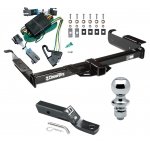 "Trailer Tow Hitch For 00-02 Chevy Express GMC Savana 1500 2500 3500 Complete Package w/ Wiring and 1-7/8"" Ball"