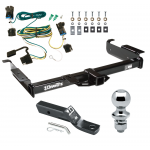 "Trailer Tow Hitch For 03-19 Chevy Express GMC Savana 1500 2500 3500 Complete Package w/ Wiring and 1-7/8"" Ball"
