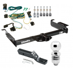 "Trailer Tow Hitch For 03-19 Chevy Express GMC Savana 1500 2500 3500 Complete Package w/ Wiring and 2"" Ball"