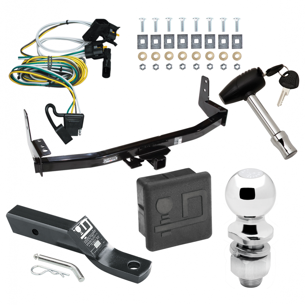 trailer tow hitch for 97-02 ford expedition lincoln navigator deluxe  package wiring 2