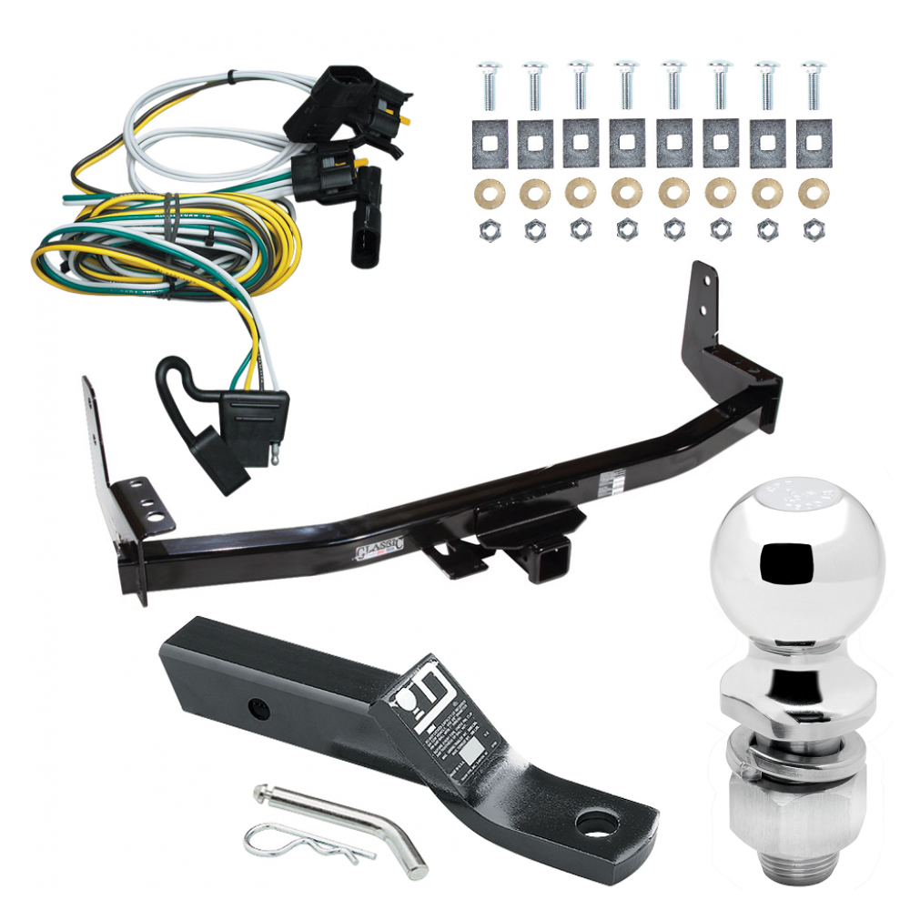 trailer tow hitch for 97-02 ford expedition lincoln navigator complete  package w/ wiring and 2