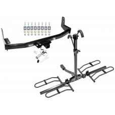Trailer Tow Hitch For 97-02 Ford Expedition 98-02 Lincoln Navigator Platform Style 2 Bike Rack w/ Anti Rattle Hitch Lock