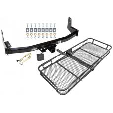 Trailer Tow Hitch For 97-02 Ford Expedition 98-02 Lincoln Navigator Basket Cargo Carrier Platform Hitch Lock and Cover
