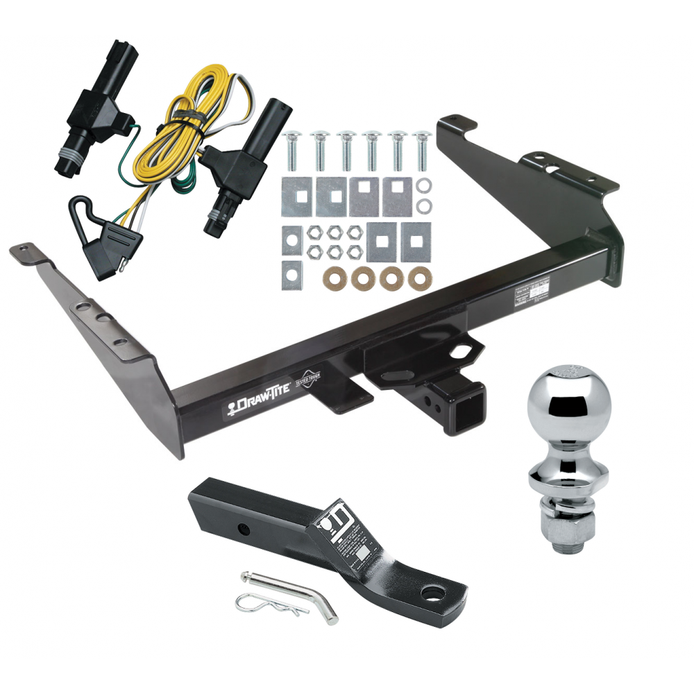 trailer tow hitch for 94 dodge ram 1500 2500 3500 complete package w/ wiring  and