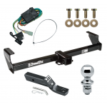 """Trailer Tow Hitch For 99-05 Suzuki Grand Vitara Chevy Tracker 02-06 XL-7 Complete Package w/ Wiring and 1-7/8"""" Ball"""