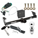 """Trailer Tow Hitch For 99-05 Suzuki Grand Vitara Chevy Tracker 02-06 XL-7 Deluxe Package Wiring 2"""" Ball and Lock"""