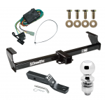 """Trailer Tow Hitch For 99-05 Suzuki Grand Vitara Chevy Tracker 02-06 XL-7 Complete Package w/ Wiring and 2"""" Ball"""