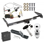 """Trailer Tow Hitch For 01-03 Toyota Highlander Deluxe Package Wiring 2"""" Ball and Lock"""
