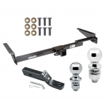 """Trailer Tow Hitch For 01-03 Toyota Highlander 99-03 Lexus RX300 Receiver w/ 1-7/8"""" and 2"""" Ball"""