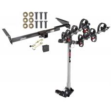 Trailer Tow Hitch For 99-03 Lexus RX300 Toyota Highlander 4 Bike Rack w/ Hitch Lock and Cover