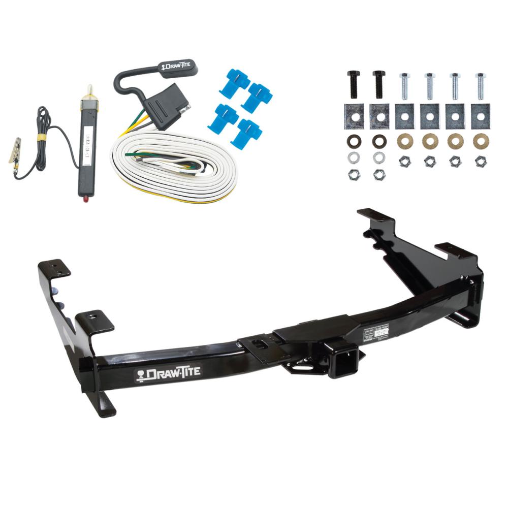 trailer tow hitch for 01-07 chevy silverado gmc sierra 2500 hd 3500 w/ wiring  harness kit