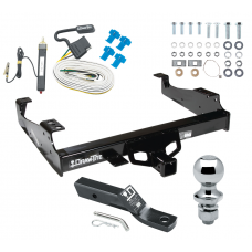 "Trailer Tow Hitch For 99-00 Ford F-350 99-17 F-450 Super Duty Cab and Chassis Complete Package w/ Wiring and 1-7/8"" Ball"