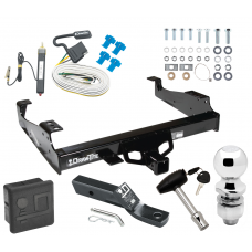 "Trailer Tow Hitch For 99-00 Ford F-350 99-17 F-450 Super Duty Cab and Chassis Deluxe Package Wiring 2"" Ball and Lock"