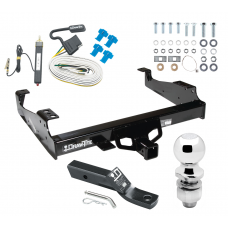 "Trailer Tow Hitch For 99-00 Ford F-350 99-17 F-450 Super Duty Cab and Chassis Complete Package w/ Wiring and 2"" Ball"