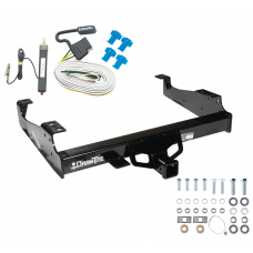 Trailer Tow Hitch For 99-00 Ford F-350 99-17 F-450 Super Duty Cab and Chassis w/ Wiring Harness Kit