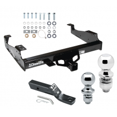 "Trailer Tow Hitch For 99-00 Ford F-350 99-17 F-450 Super Duty Cab and Chassis Receiver w/ 1-7/8"" and 2"" Ball"