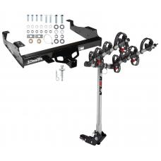 Trailer Tow Hitch For 99-17 F-350 F-450 F-550 w/ 4 Bike Carrier Rack