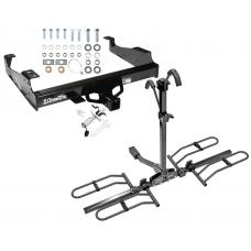 Trailer Tow Hitch For 99-17 F-350 F-450 F-550 Platform Style 2 Bike Rack w/ Anti Rattle Hitch Lock