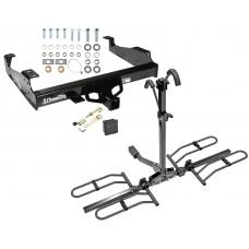 Trailer Tow Hitch For 99-17 F-350 F-450 F-550 Platform Style 2 Bike Rack Hitch Lock and Cover
